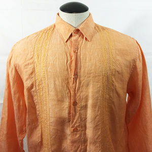 P26 Cubavera %100 Linen Button Front Shirt